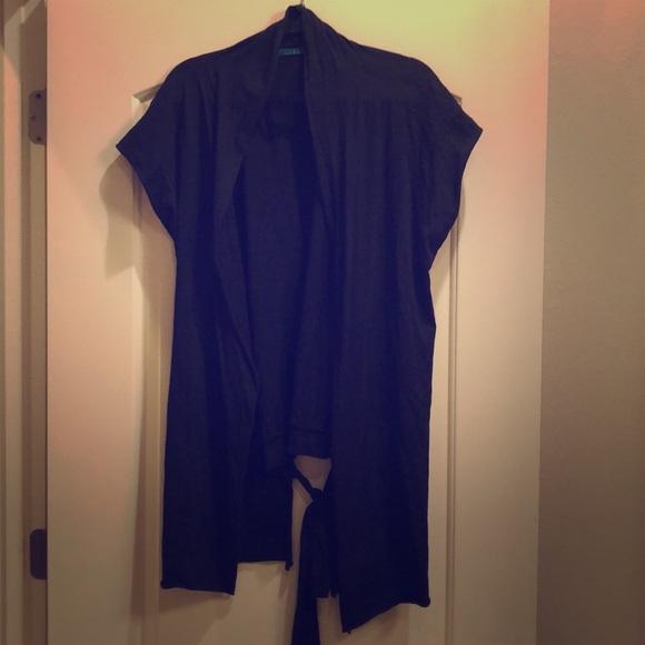 Velvet by Graham & Spencer Sweaters - VELVET black shawl shrug coverup